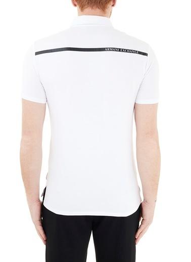 Armani Exchange  Pamuklu Polo T Shirt Erkek Polo 3Kzfha Zje6Z 1100 Beyaz